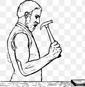 Worker,hammer,carpenter - Hammer Clip Art PNG