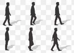 Ms. Silhouette Vector Walk - Walk Cycle Walking Euclidean Vector PNG