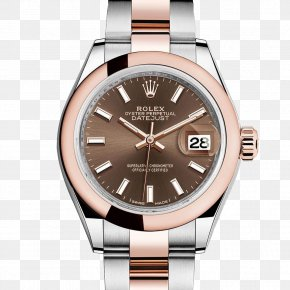 Rolex Watches Women Watch Gold Coffee Color Table - Rolex Datejust Rolex Submariner Watch Gold PNG