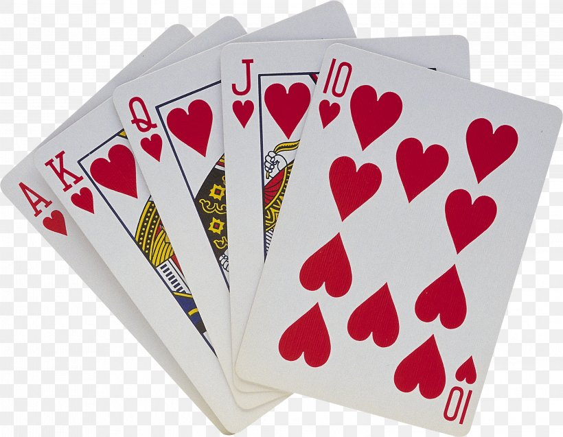 Playing Card Royal Flush Clip Art, PNG, 2998x2329px, Watercolor, Cartoon, Flower, Frame, Heart Download Free