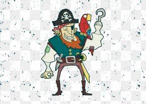 Vector Pirate - T-shirt Parrot Piracy PNG