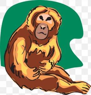 Monkey - Common Chimpanzee Monkey Ape Clip Art PNG