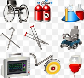 Vector Wheelchair - Medical Equipment Health Care Icon PNG