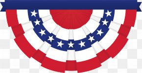 United States - Flag Of The United States Bunting Clip Art PNG