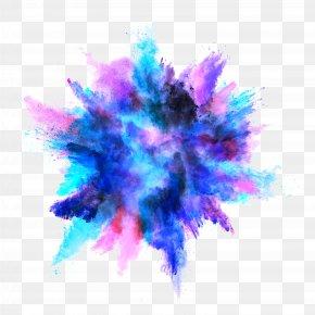 Blue Dust - Explosion Color Powder Dust PNG