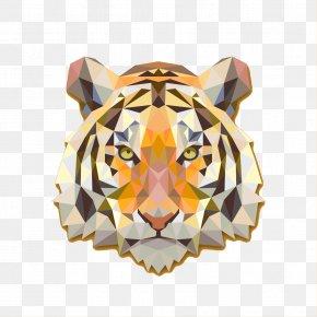 Tiger - Tiger Cat Paper Bumper Sticker PNG