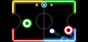 Air Hockey Cliparts - Glow Hockey 2 Gun Bros Game PNG