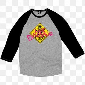 T-shirt - Long-sleeved T-shirt Raglan Sleeve Dinosaur PNG