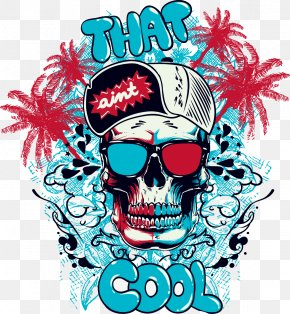 Graffiti Design Casual Fashion Trend Vector Material - T-shirt Graffiti Mural Illustration PNG