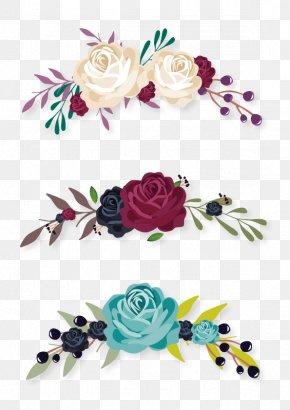 Flowers Decorative Labels - Flower Euclidean Vector Clip Art PNG