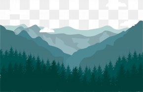 Forest Mountain - Flat Design Landscape Mountain PNG