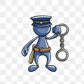 Police With Handcuffs In Their Hands - Police Officer Handcuffs PNG