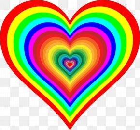 Rainbow - Rainbow Flag Heart Color Clip Art PNG