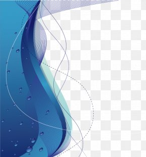 Vector Blue Wave - Blue Graphic Design Euclidean Vector PNG