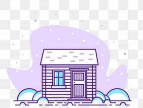 Purple House Building - Building House Gratis PNG