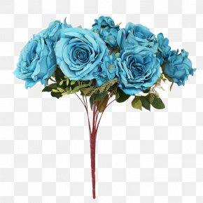 Blue Artificial Flower Bouquet - Garden Roses Blue Rose Floral Design Flower Bouquet Artificial Flower PNG