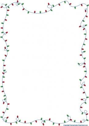 Xmas Cliparts Borders - Christmas Lights Clip Art PNG