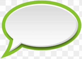 Speech Bubble White Green Clip Art Image - Circle Area Product Green PNG