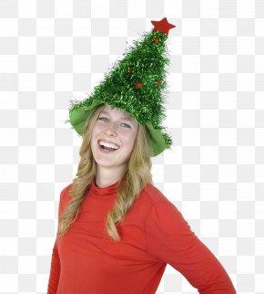 Tinsel - Christmas Tree Hat Santa Claus Tinsel PNG