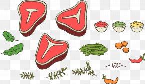 Vector Food - T-bone Steak Beefsteak Barbecue PNG