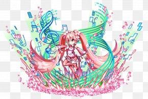 Cherry Blossom - Brave Frontier Hatsune Miku Sakura Vocaloid Game PNG
