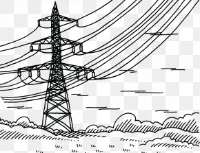 High Voltage Wire Equipment - Electricity Overhead Power Line High Voltage Electric Power Radio Frequency PNG