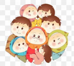 Family Cartoon - Family Muslim Islam Cartoon Child PNG