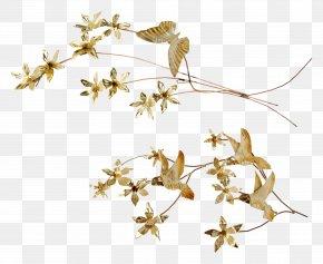 Gold Leaf - Bedside Tables Leaf Wall Decal Branch PNG