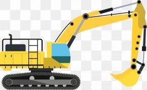 Construction Excavator Vector Construction Tools - Excavator Architectural Engineering Machine Heavy Equipment PNG