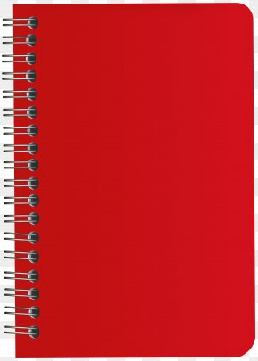 Red Notebook Clip Art Image - Oxford Standard Paper Size Amazon.com Notebook PNG