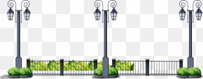 Vector Hand-painted Street Light - Street Light Euclidean Vector PNG
