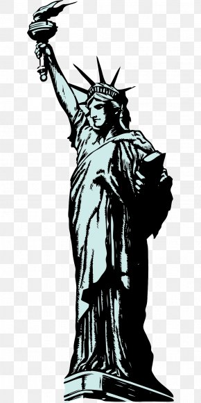 The Torch Of The Goddess - Statue Of Liberty Clip Art PNG