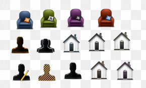 Sofa Character Perspective Icon - Couch 3D Computer Graphics Icon PNG