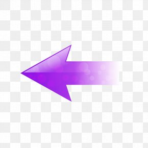Purple Left Arrow - Triangle Point Pattern PNG