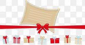 Vector Christmas Gifts And Ribbons PNG