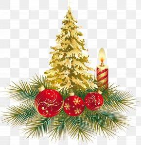 Christmas - Christmas Tree New Year Santa Claus Bombka PNG