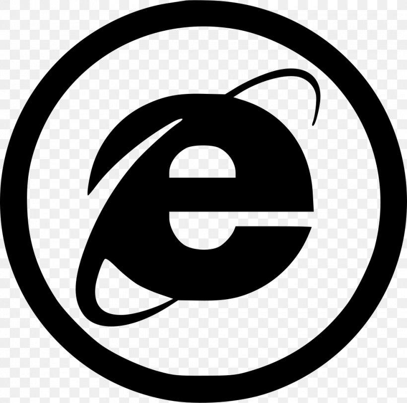 Internet Explorer 11 Web Browser Microsoft, PNG, 980x970px, Internet Explorer, Area, Black And White, Brand, File Explorer Download Free