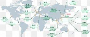 Travel Around The World - World Map United States Border PNG
