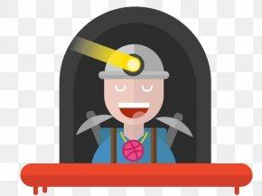 Coal Miner - Cartoon Drawing PNG