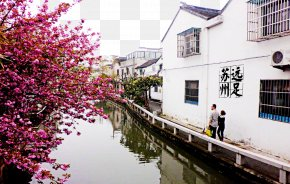 Suzhou Pingjiang Road Picture - Pingjiang Road Suzhou Impression Jiangnan Liutu PNG