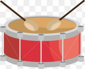 Hand-painted Red Drum - Snare Drum Drums PNG