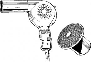 Blow Dryer Cliparts - Comb Hair Dryer Hairdresser Clip Art PNG