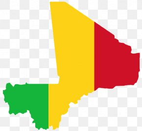 Map - Flag Of Mali Map National Flag PNG