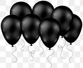 Black Balloons Transparent Clip Art Image - Balloon Clip Art PNG