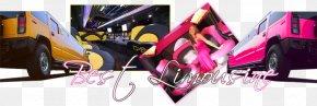 Pink Limousine - Car Graphic Design Brand Product Design Automotive Design PNG