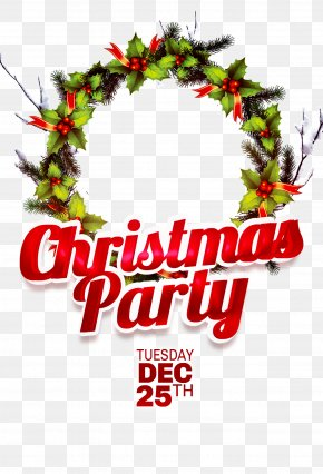 Christmas Wreath Mosaic Poster Material - Christmas Party Poster Santa Claus Gift PNG