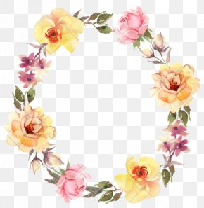 Watercolor Flowers - Flower Wreath Rose Stock Photography Clip Art PNG