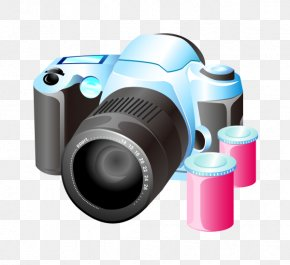 Vector Cartoon Material Travel Camera - Photographic Film Camera Photography Icon PNG