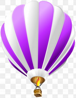 Hot Air Balloon Purple Transparent Clip Art Image - Hot Air Balloon Paper Blue Clip Art PNG