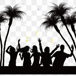 Vector And Notes - Silhouette Party Beach Nightclub PNG